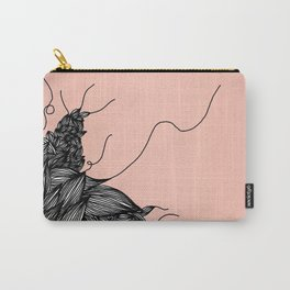 Unravelling Lines Illustration in Rose Gold Carry-All Pouch
