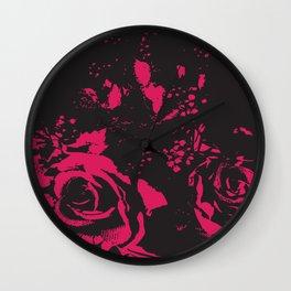 Roses Abstract Wall Clock