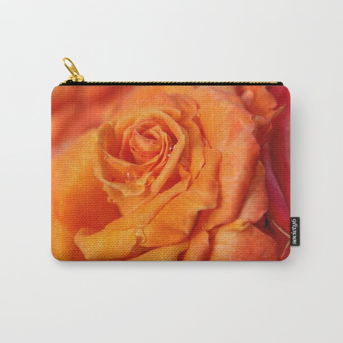 Tangerine Rose Carry-All Pouch