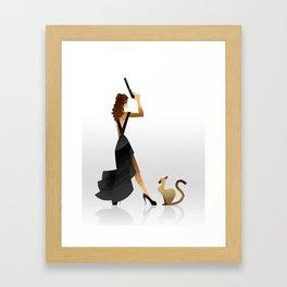 Cat Burglar Framed Art Print