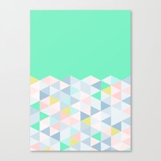 Pastel Geometric (Mint) Canvas Print