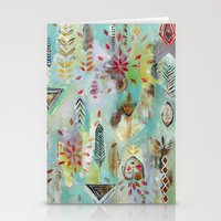 """flora bowley Stationery Cards featuring """"Liminal Rights"""" Original Painting by Flora Bowley by Flora Bowley"""