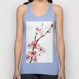 Cherry blossom 2 Unisex Tank Top