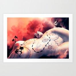 Coeur de prirate Art Print