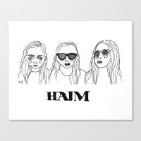 haim Canvas Prints featuring Haim by ☿ cactei ☿