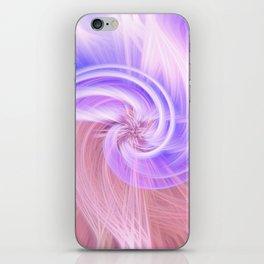 Awesome Light Fibers Show Of Twirls iPhone Skin