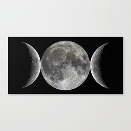 Triple goddess | Moon | Moons | Goddess and God Canvas Print