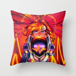 DJ Sona - Red Throw Pillow