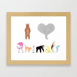 I love Animals colored  Framed Art Print