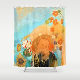 "Odilon Redon ""Evocation of Roussel"" Shower Curtain"