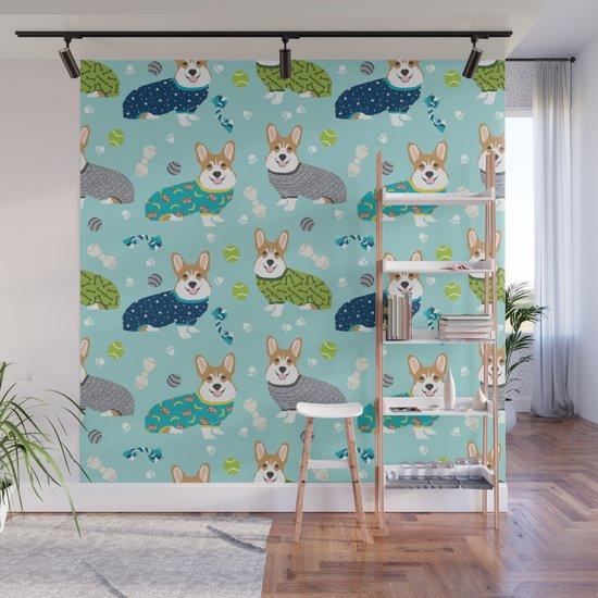 Corgi pajamas welsh corgi in pjs pattern print cute dog gifts custom dog portrait by petfriendly