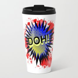 Doh Comic Exclamation Travel Mug