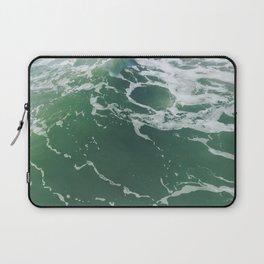 Sea Foam Green Ocean Wave Photograph Laptop Sleeve
