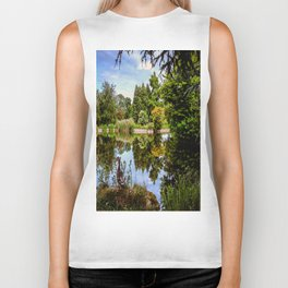 Lakeside reflections. Biker Tank