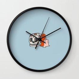 Inktober Day 8 - Skull Wall Clock