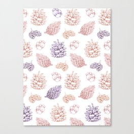 winter cone pattern II Canvas Print