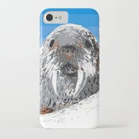 walrus iPhone & iPod Cases featuring Walrus by wingnang