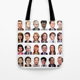 Office Caricature Set Tote Bag
