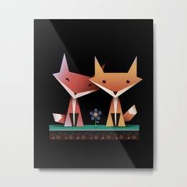 Loving Foxes Metal Print