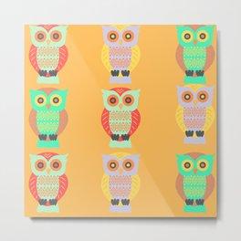 colourful owls Metal Print