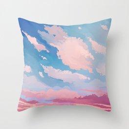 Cherry Blossom Sky Throw Pillow