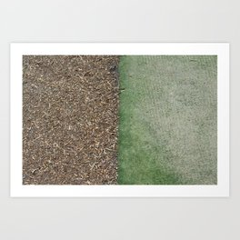 Grass and Mulch Art Print