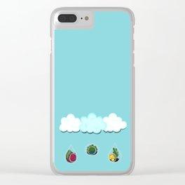 Succulent Shower Clear iPhone Case