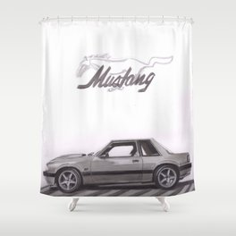 Mustang 1991 Shower Curtain