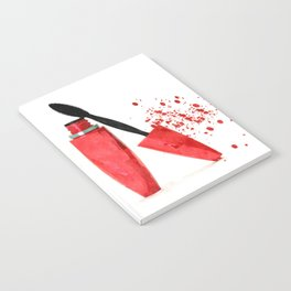 Red mascara fashion watercolor illustration Notebook