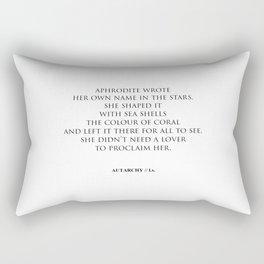 AUTARCHY (White Background) Rectangular Pillow