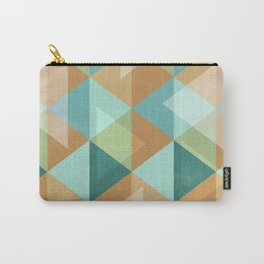 Colorful Diamond Geometric Design Carry-All Pouch