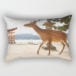 Deer in Miyajima  Rectangular Pillow