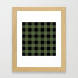 Green Buffalo Plaid Framed Art Print