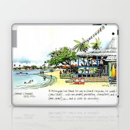 Calico Jack's, Grand Cayman (with notes) Laptop & iPad Skin