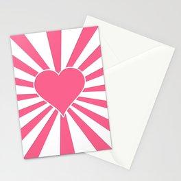 Midi Pink Valentine Sweetheart Sun rays Stationery Cards