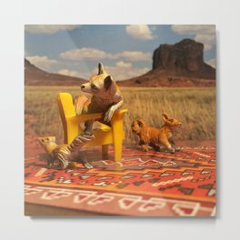 The Foxes & The Desert Picnic Metal Print