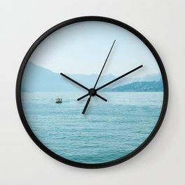 Blue scenery Wall Clock