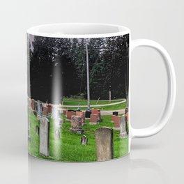Country Church Cemetery Coffee Mug