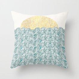 Sunny Tribal Seas Throw Pillow