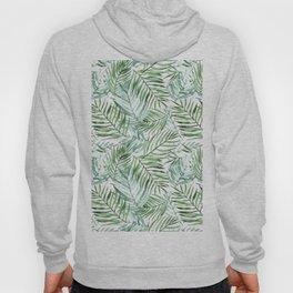 Watercolor palm leaves pattern Hoody