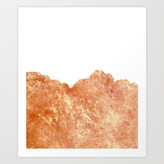 Rose Gold Rush #society6 #decor #buyart Art Print