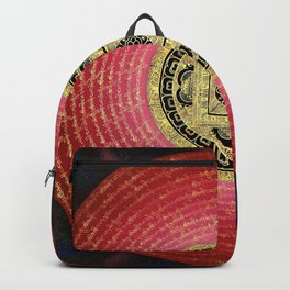 Buddhist Hindu Om Mandala Rose Backpack