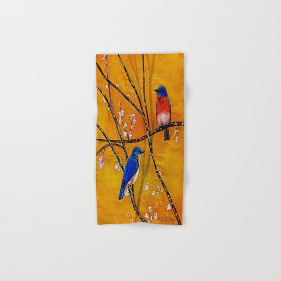 Blue Birds Hand & Bath Towel