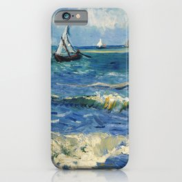 Seascape near Les Saintes-Maries-de-la-Mer by Vincent van Gogh iPhone Case