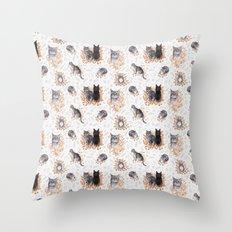 Le Chat Toile de Jouy Throw Pillow