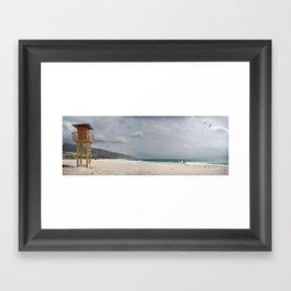 Los LAnces beach, Tarifa Framed Art Print