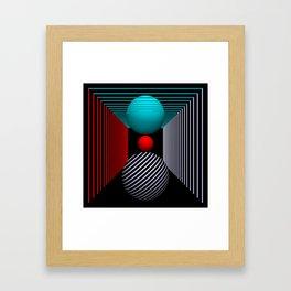liking geometry -5- Framed Art Print