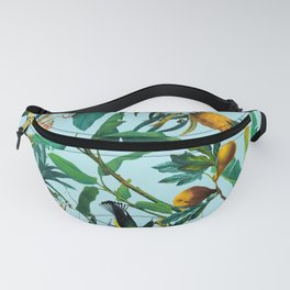 Fruit and Birds Pattern Fanny Pack