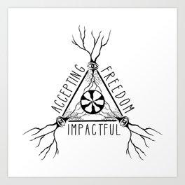 ACCEPTING - FREEDOM - IMPACTFUL Art Print