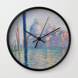 Le Grand Canal by Claude Monet Wall Clock